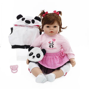 Pretty Reborn Baby Doll with Panda Bag-Banydoll