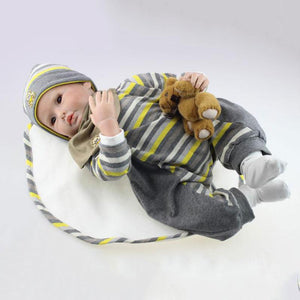 Realistic Handsome Baby Allister & Bear Doll-Banydoll