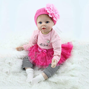 Red Skit Truly Reborn Baby Girl Doll-Banydoll