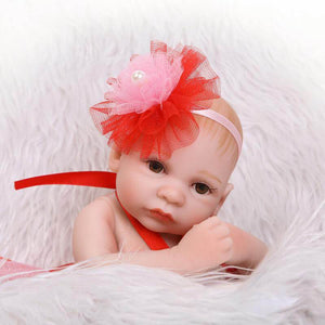 Red Dress Realistic Girl Baby Doll-Banydoll