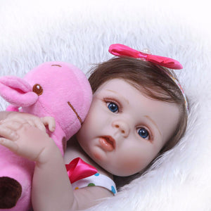 Realistic Baby Girl with Plush Doll Pal-Banydoll