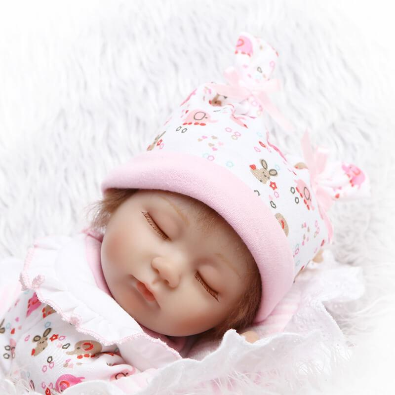 16 Quot Sleeping Preemie Girl With Gift Pillow Gift For Kids