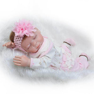 Sleeping Little Pink Kittie: Full Body Silicone Baby Girl-Banydoll