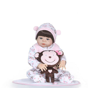 Smile Monkey Doll Realistic Baby Girl-Banydoll