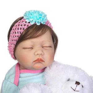 Sweet Dream Kelley Baby Doll with Plush Bear-Banydoll