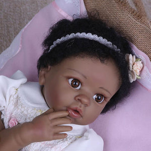 Truly African-American Girl Orval & Bear Doll-Banydoll