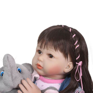 Truly Long Hair Girl & Elephant Doll-Banydoll