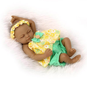 Truly Real Africa America Tiny Baby Dolls Set-Banydoll