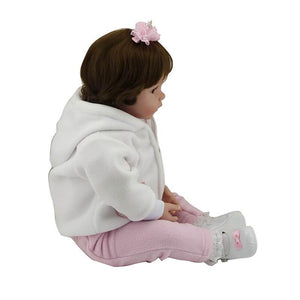 Truly White Coat Girl Realistic Baby Doll-Banydoll