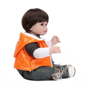 Wearing Necklace Boy Young Lifelike Baby Doll-Banydoll