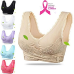 Seamless Lift Bra with Front Cross Side Buckle