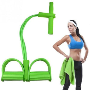 Fit™: 4-Tube Pedal Fitness Rope for Woman & Men