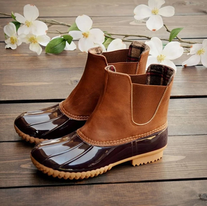 Women Round Head Short Boots