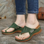 WOMEN EMBROIDERY COMFY WEDGES SANDALS
