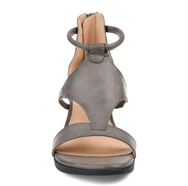 2020 Women Casual Leather Comfy Wedge Sandals