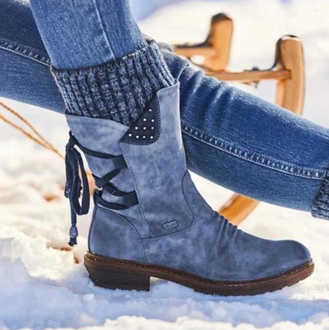 Women's Winter Warm Lace Up Boots New 2020