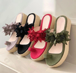 2020 Women Casual Daily Flower Slip On Platform Sandals