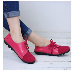 Genuine Leather Ballet Ladies Shoes