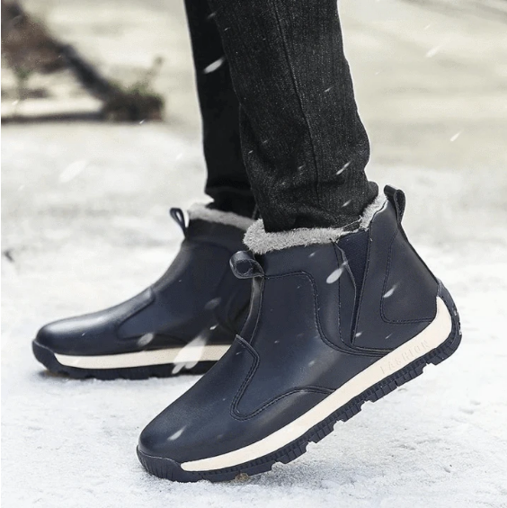2020 Men's Winter Faux Fur Warm Snow Boots