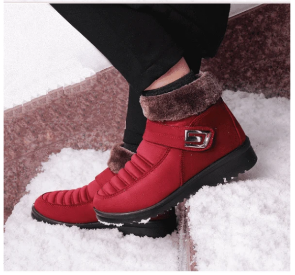 Women Flat Heel Waterproof Snow Boots