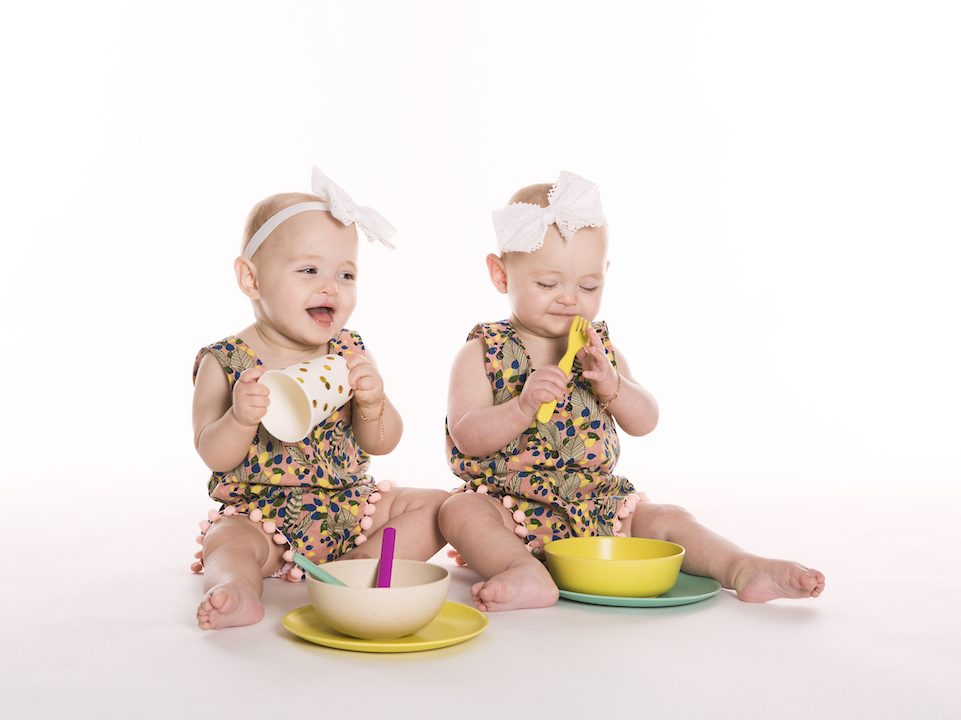 Evia and Aria cover photo for Babys First Recipe Book