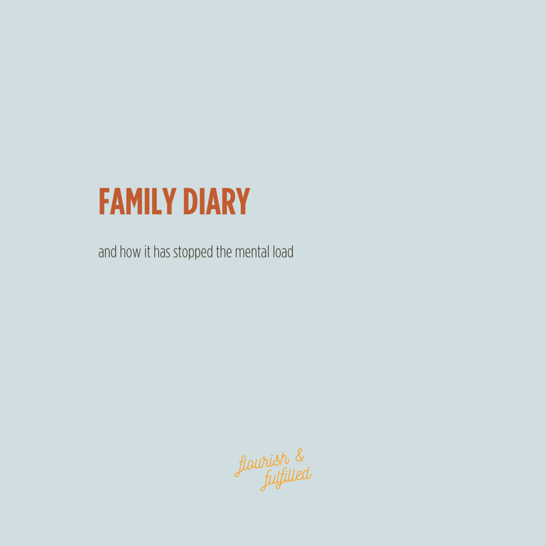Family Diary & how it saved me from the mental load!