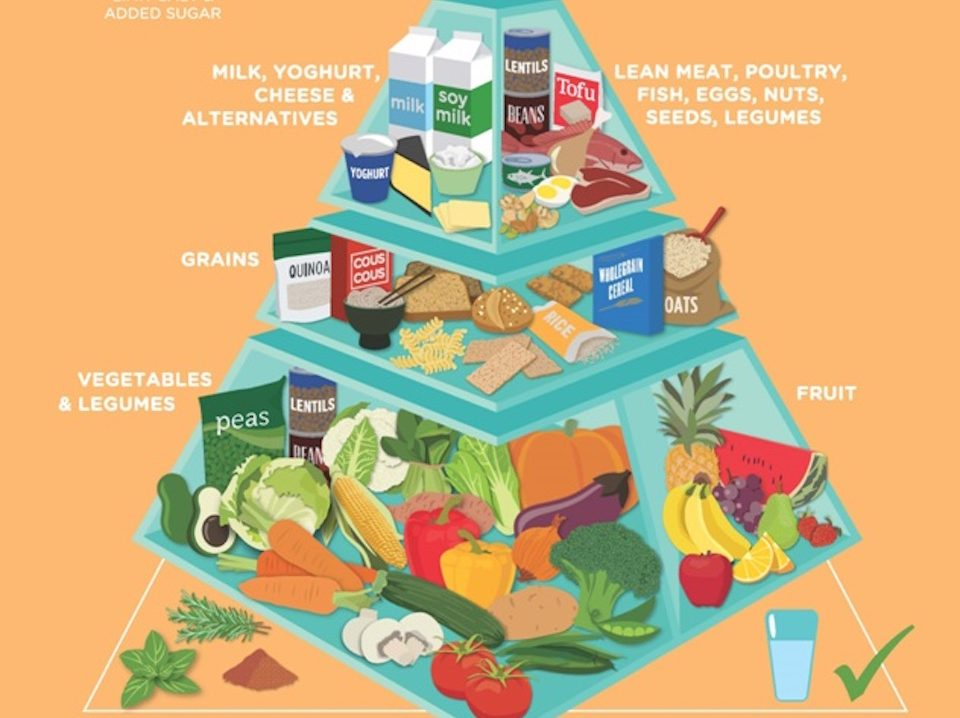 Healthy Eating Australian Food Pyramid Graphic