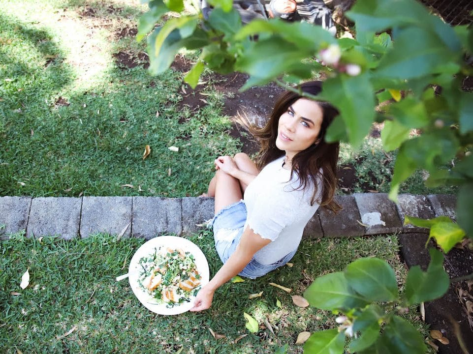 Sophie Guidolin spring photo in the garden