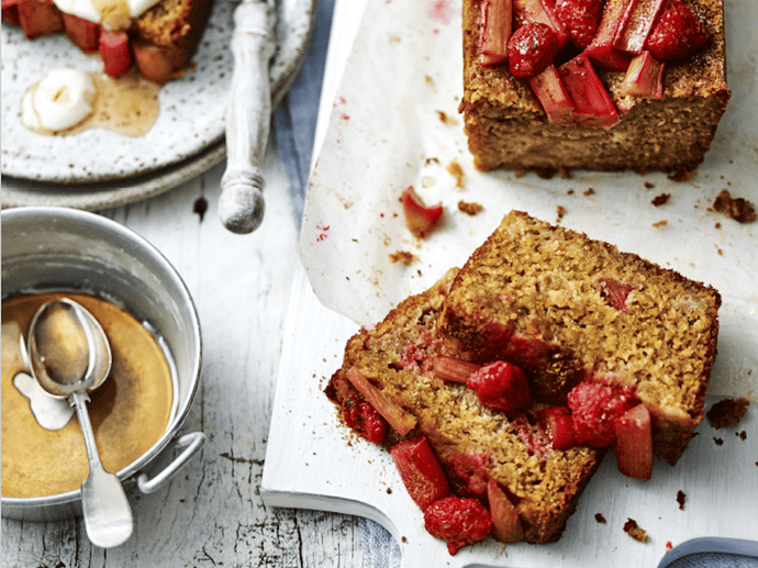 Breakfast Loaf Recipe | Rhubarb & Raspberry Morning Loaf