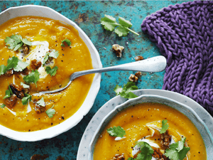 Chai-Roasted Pumpkin Soup with Honey Walnuts Recipe! + Macro Breakdown