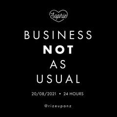 Business NOT As Usual