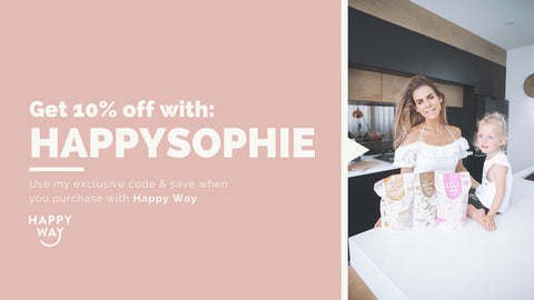 Happy Way x Sophie Guidolin HAPPYSOPHIE promo code