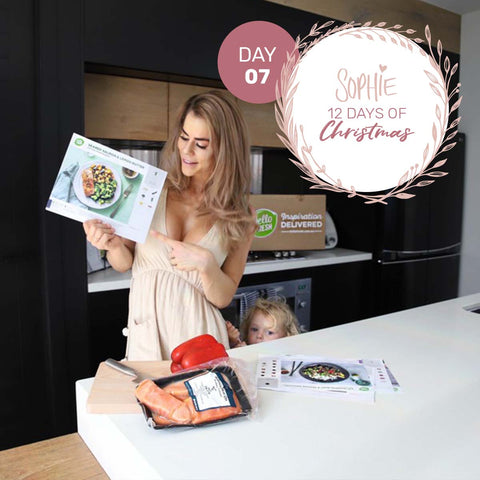 Sophie Guidolin 12 Days of Christmas Day 7 Hello Fresh