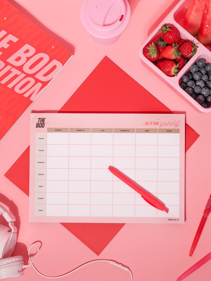 THE BOD Meal Prep Planner