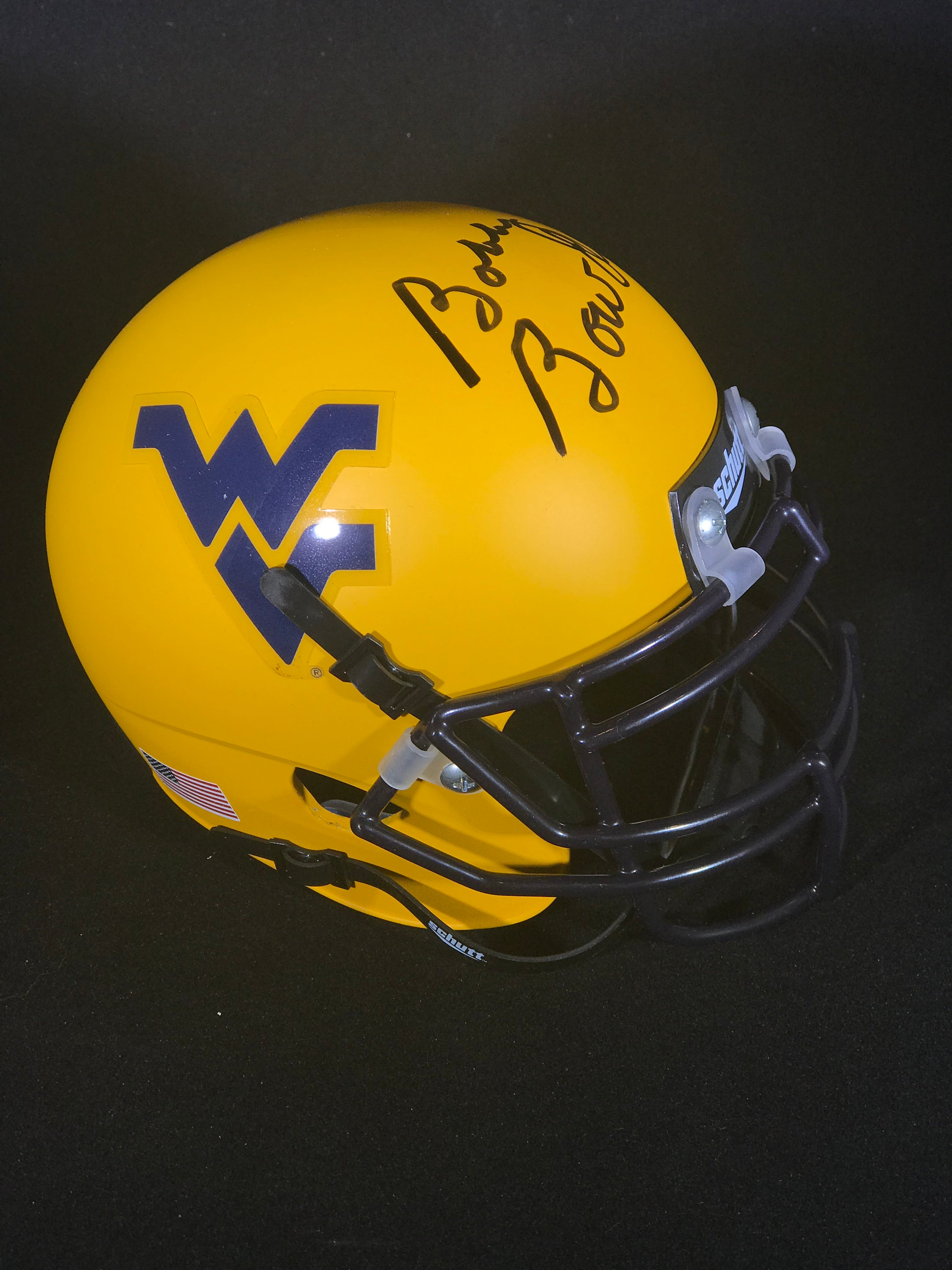 Bobby Bowden Autographed West Virginia Mini Helmet with JSA
