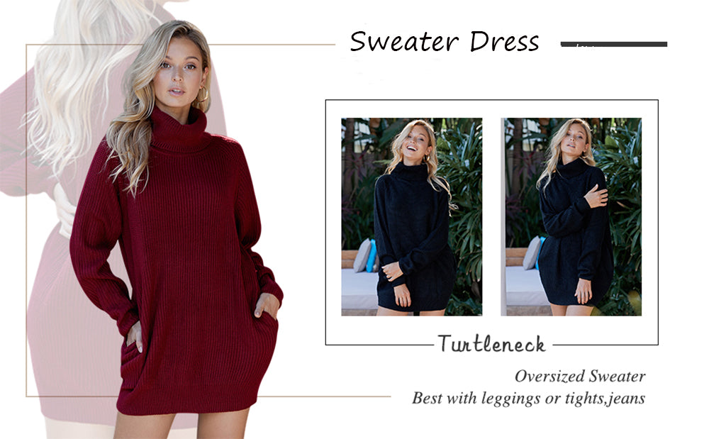Women's Pullover Sweater Dress