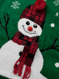 Snowman Ugly Christmas Jumper Dress Long Sleeve Sweater Dress