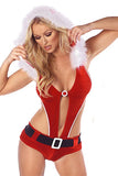 Sexy Halter Hooded Christmas V Top Santa Lingerie