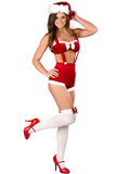 Red Dance Christmas Santa Lingerie Set