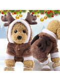 Dog Christmas Reindeer Costume Pet Cosplay Jumpsuit Outfit
