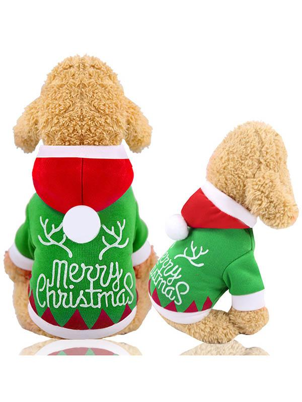 Merry Christmas Hoodie Puppy Costumes