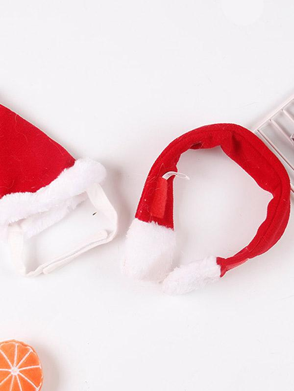 Cat Dog Christmas Hat And Scarf Pet Costume