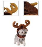 Dog Cat Christmas Reindeer Antler Hat