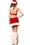 Sexy One-Piece Christmas Lingerie Halter Backless Santa Costume