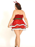 Christmas Babydoll Plus Size Lingeries