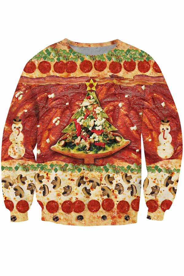 Christmas Pizza Pattern