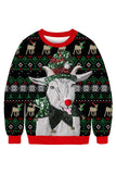 Christmas Sheep Sweatshirt Gray