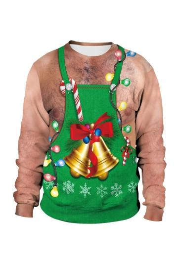 Jingle Bell Ugly Christmas Sweatshirt Green