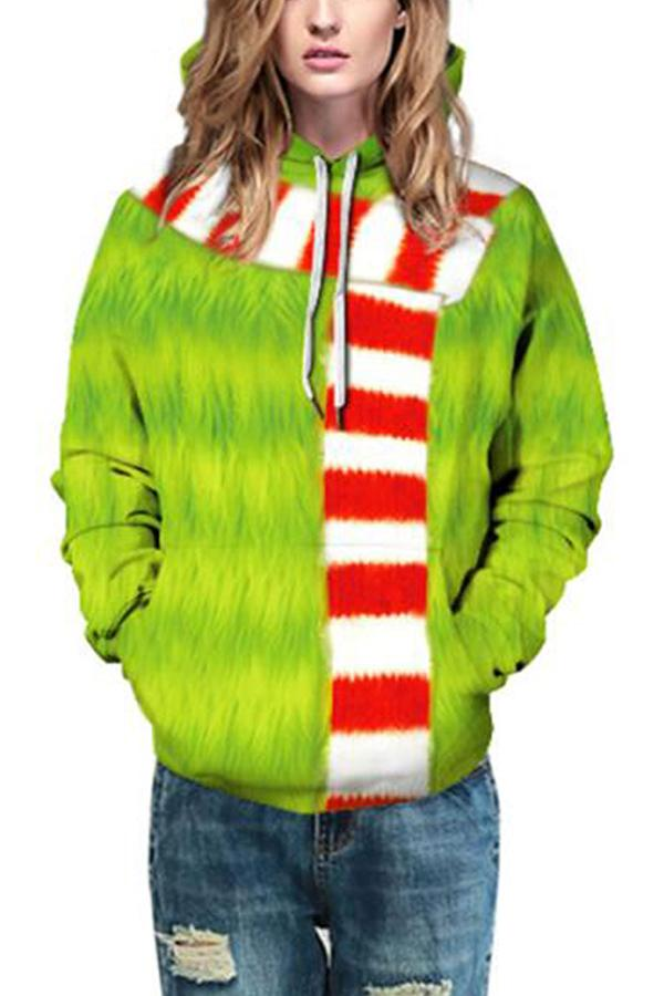Plus Size The Grinch Hoodie Oliver Green