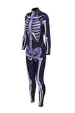 Purple Skeleton Print